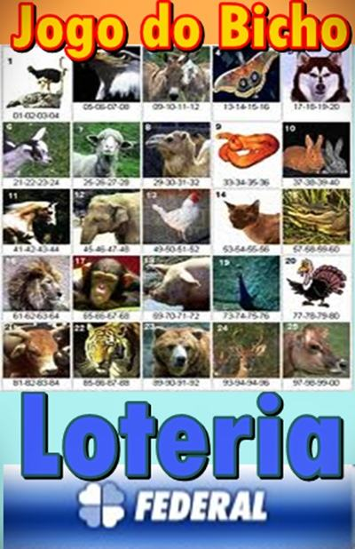 jogo do bicho loteria federal Jogo do Bicho   Loteria Federal